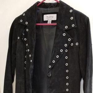 Long Black Suede Coat